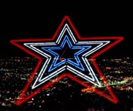 Mill Mountain Star superimposed over Downtown Roanoke, Virginia